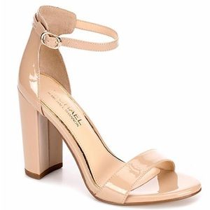 Michael Shannon Heeled Sandal - Patent Nude